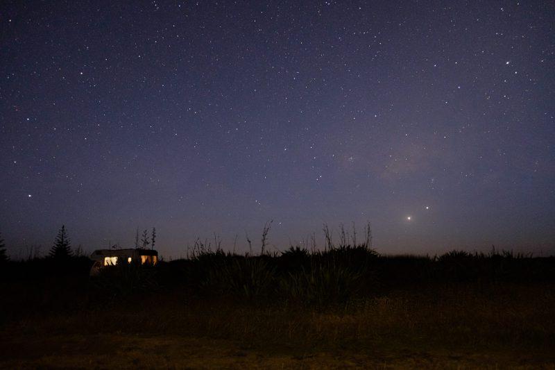 Cielo estrellado Nueva Zelanda Tokerai Beach Northland