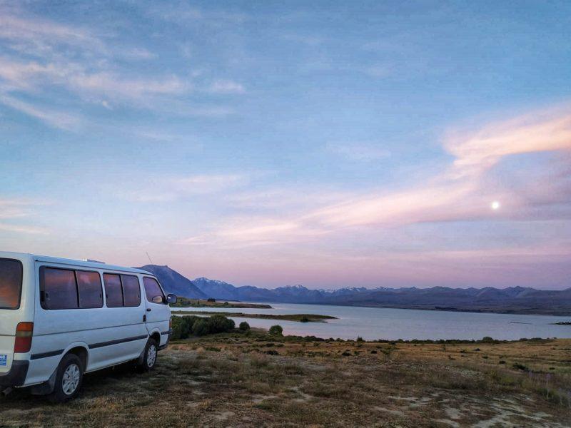 Dormir gratis en el lago Tekapo