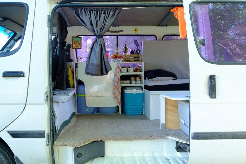 como es vivir y viajar en Campervan