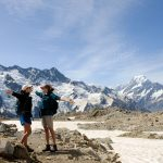 Ruta a la Cabaña Mueller Monte Cook Nueva Zelanda Isla Sur
